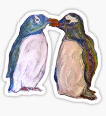 Kissing penguins Sticker