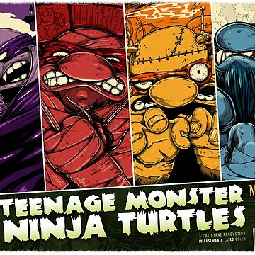 Teenage Monster Ninja Turtles by mizzlecat