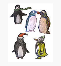 Penguin party Photographic Print