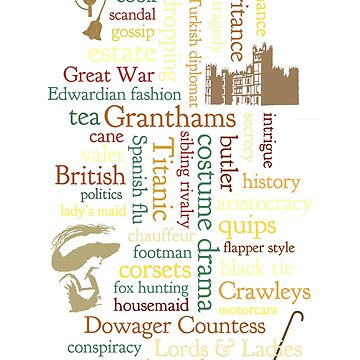 Downton Abbey Word Mosaic by dapperc