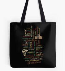 Downton Abbey Word Mosaic Tote Bag