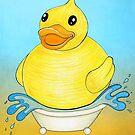 Big Happy Rubber Duck by Shawna Rowe