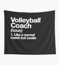 Volleyball Coach Funny Definition Trainer Gift Design Wall Tapestry