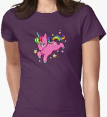 Magical Rainbow Unicorn Women's Fitted T-Shirt