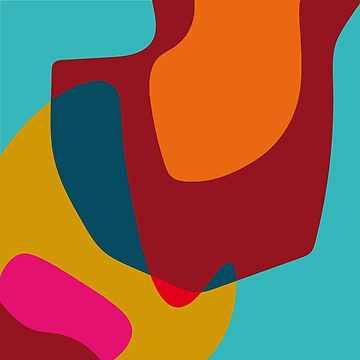 Hooked No1 - Abstract Colorful Shapes by SterreStudio