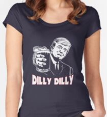 Donald Trump Bud Light Official Dilly Dilly T-Shirt Patrick's Day Gift Tess Women's Fitted Scoop T-Shirt