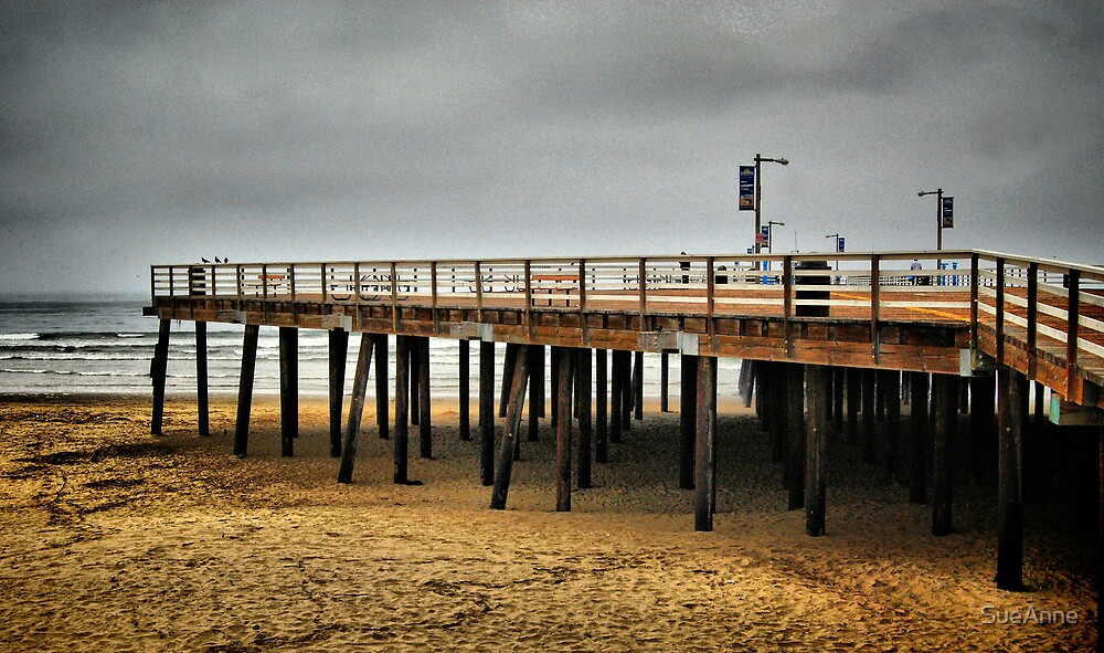 A Walk Along The Pier  by SueAnne
