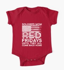 Red Friday Military Shirt For Soldiers Supporters One Piece - Short Sleeve