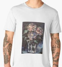 Flowers - Three Abstract Roses Men's Premium T-Shirt