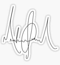 Michael Jackson Signature Sticker