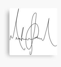 Michael Jackson Signature Canvas Print