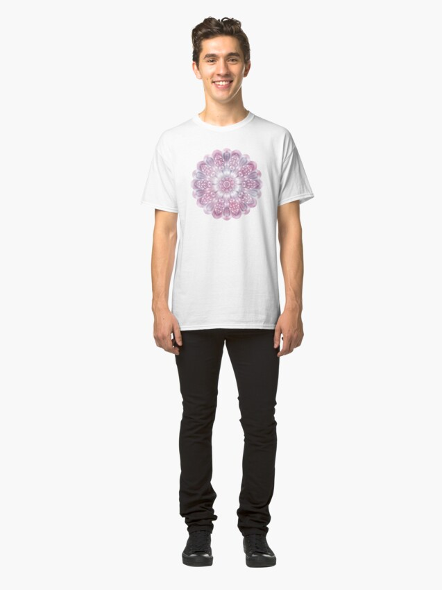 Alternate view of Dreams Mandala in Pink, Grey, and White Classic T-Shirt