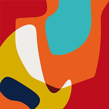 Hooked No.2 - Abstract Colorful Shapes by SterreStudio