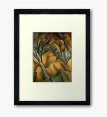 Houses at l'Estaque- Georges Braque Framed Print