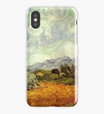 Wheat Field with Cypresses - Van Gogh iPhone Case/Skin