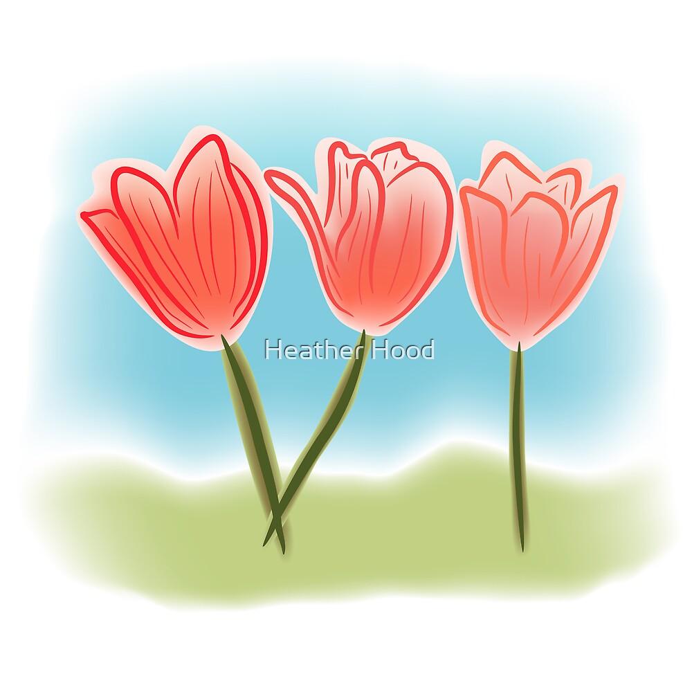Watercolor like tulips by Heather Hood
