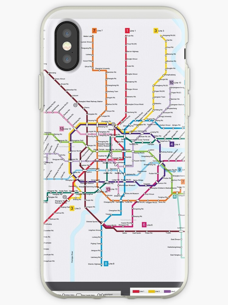 Subway Map Phone.Shanghai Subway Map Iphone Case By Superfunky