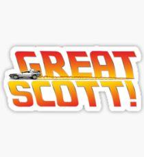 Back to the future - Great Scott! Sticker