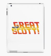 Back to the future - Great Scott! iPad Case/Skin