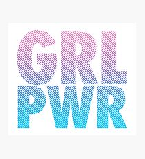 GRL PWR FARBVERLAUF. Lets Go Girls! Photographic Print