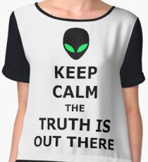 UFO Alien Keep Calm The Truth Is Out There Chiffon Top