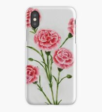 Watercolor Carnations iPhone Case/Skin