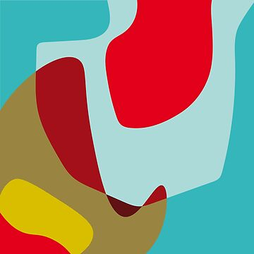 Hooked No.3 - Abstract Colorful Shapes by SterreStudio