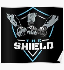 The Shield / Shield Tshirt / Blue White  Poster