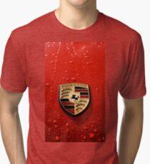 3D Porsche Logo Tri-blend T-Shirt