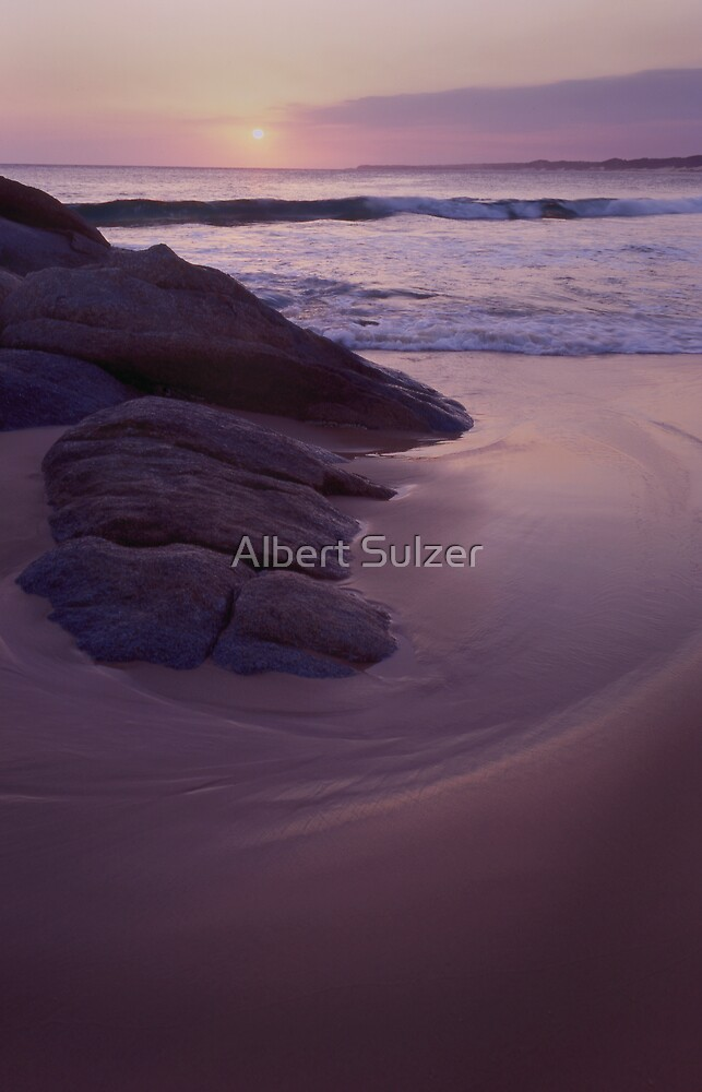Evening Wave Cape Conran by Albert Sulzer