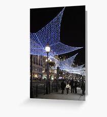 Regent Street at Christmas Greeting Card