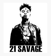 21 Savage BW Photographic Print