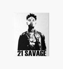 21 Savage BW Art Board