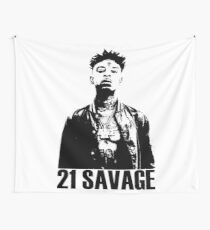 21 Savage BW Wall Tapestry