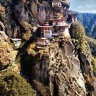 Taktshang Goemba - Tiger's Nest Monastery by Kathy Weaver
