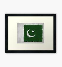 Pakistan Flag Reworked No. 66, Series 3 Framed Print