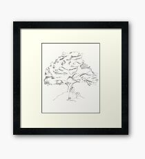 Tree Hugger Book Worm Framed Print