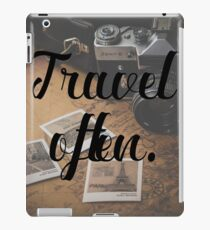 Travel Often. iPad Case/Skin