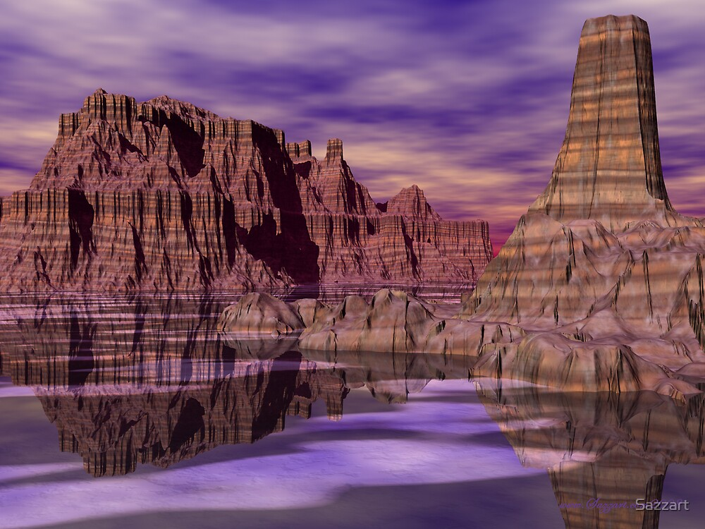 Rose Canyon River by Sazzart