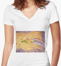 Phoenix Wing Women's Fitted V-Neck T-Shirt