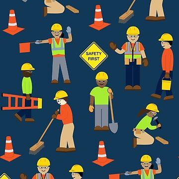 e6f152cdef Safety first construction volunteer worker pink background