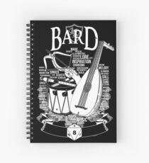 RPG Class Series: Bard - White Version Spiral Notebook