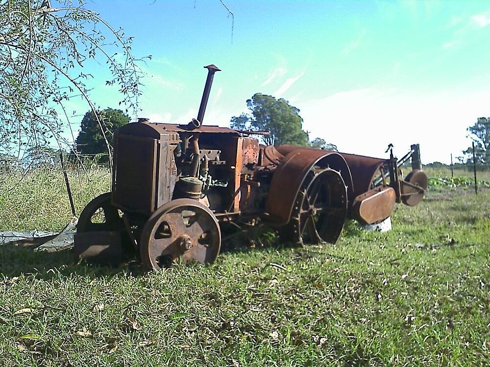 Howard Tractor - Rust In Peace by Terry  Jackson