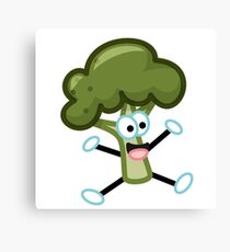 Excited Broccoli Canvas Print