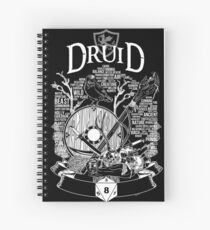 Cuaderno de espiral Serie RPG Class: Druid - White Version