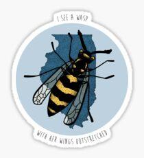 Sufjan Stevens Predatory Wasp Print Sticker