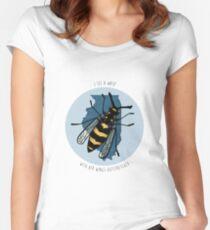 Sufjan Stevens Predatory Wasp Print Women's Fitted Scoop T-Shirt