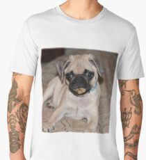 Ziggy The Pug With Treat Men's Premium T-Shirt
