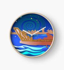 Maori Canoes - Waka Clock