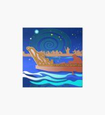 Maori Canoes - Waka Art Board